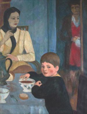 Petit déjeuner Théodore et Marie Madeleine Desvallières