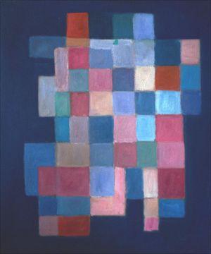 Cubes sur fond bleu