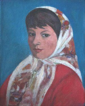 Flore Isorni au foulard