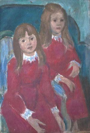 Esquisse portrait filles Baizel Smith