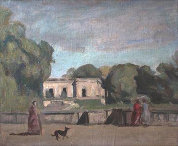 "Copie de Corot""Fontainebleau"""