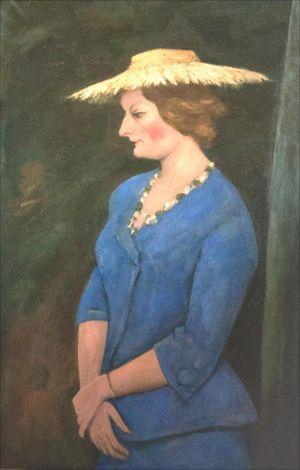 Monique Isorni de profil chapeau