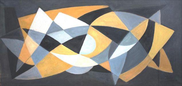 Composition jaune et grise