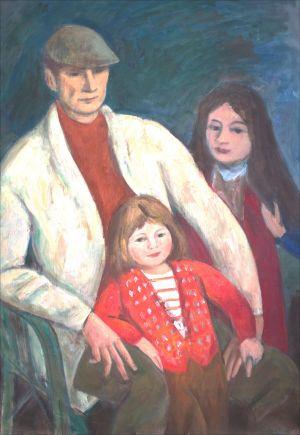 Pierr Isorni avec Antonella et Lucia Ambroselli