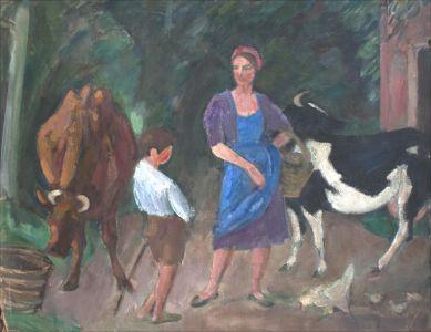 Monique Isorni et les vaches
