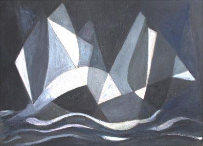 Bateaux noirs et gris