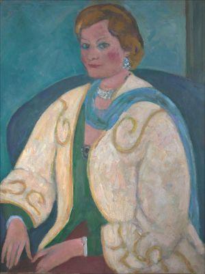 Monique Isorni fond vert