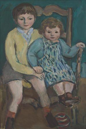 Théo et Flore Isorni  assis