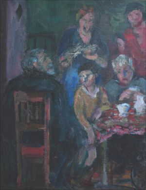 Famille Desvallières esquisse