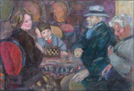 Margueritte,George Desvallières et ,Monique,  Benoît Isorni