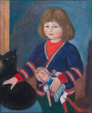 Lucia Ambroselli à la poupée