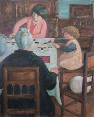 """""""Marguerite Desvallières , Flavie et Flore Isorni aux dominos"""""""