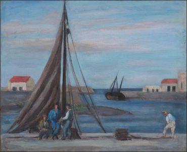 Touville: entrée du port