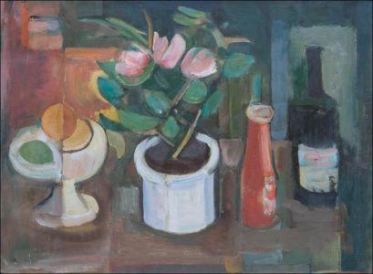 Au pot de fleurs