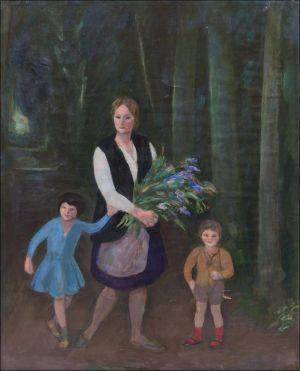 Monique, Flavie et Théodore Isorni