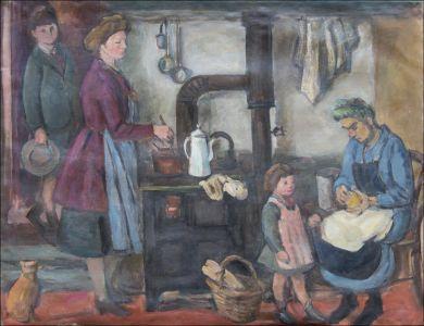 Monique,Benoît et Flavie Isorni à la cuisine
