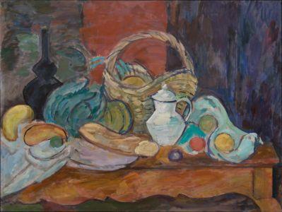 Panier et légumes