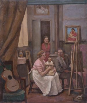 Pierre , Monique, Benoît Isorni et Marie Madeleine Desvallières