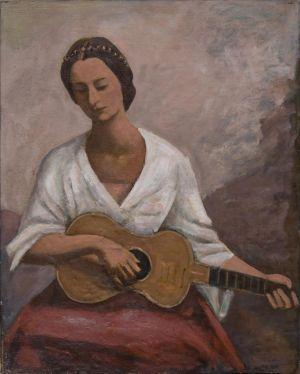 Jeune femme à la guitare