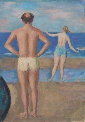 Jacques Isorni et son épouse (Villers-sur- mer)