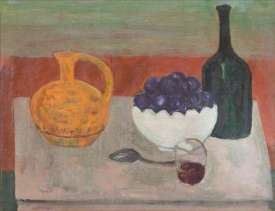 Prunes et carafe