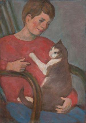 Théodore Isorni au chat