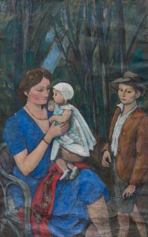 Monique, Flavie et Benoît Isorni à Seine-Port