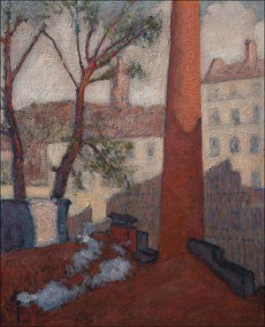 Paysage Antonio IsorniVue de son Atelier