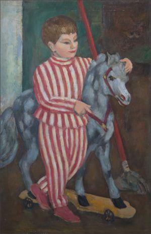 Benoit Isorni au cheval de bois