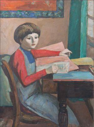 Flavie Isorni à l'étude