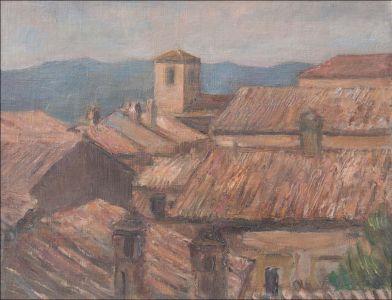 Village d'Italie, les toitures