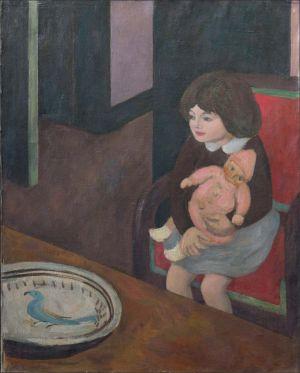 Flavie Isorni à la poupée