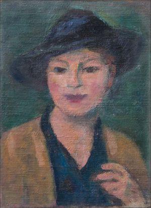 Jeuine fille au chapeau