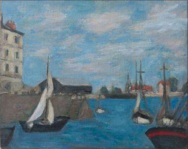 Honfleur, entrée du port