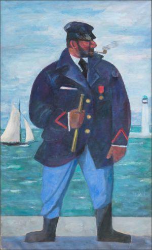 Capitaine à l'entreé du port Puerto Banus ( Marbella)